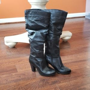 Aldo knee high black boots